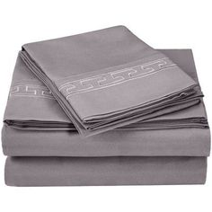 Simple Luxury Heritage 3000 Series Microfiber Sheet Set Color: Silver, Size: California King