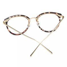 R  28.24 44% de desconto Óculos Óculos de Armação Moda Vintage Preto de  Metal Frame Ótico Óculos De Leitura Mulheres Óculos Frames Novo 2017 Oculos  SojoS em ... e3ced990ed