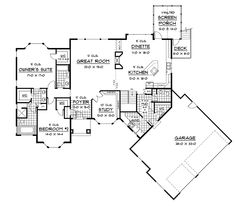 Open Living Areas & Vaulted Screened Porch - plan 091D-0469   houseplansandmore.com