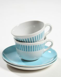 Kitchenware, Tableware, Marimekko, Live Long, Scandinavian Style, Finland, Pattern Design, Retro Vintage, Tea Cups
