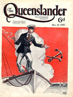 Vintage Reproduction Poster Print - Cover from The Queenslander 1927 - Anchoring Little Eva | State Library of Queensland Shop