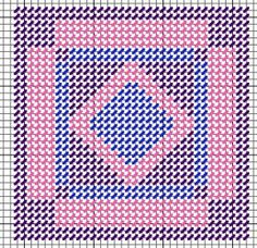 Amish Diamond in Square quilt plastic canvas needlepoint ornament free pattern Plastic Canvas Coasters, Plastic Canvas Stitches, Plastic Canvas Ornaments, Plastic Canvas Tissue Boxes, Plastic Canvas Christmas, Plastic Canvas Crafts, Plastic Canvas Patterns, Mug Rug Patterns, Cross Stitch Patterns