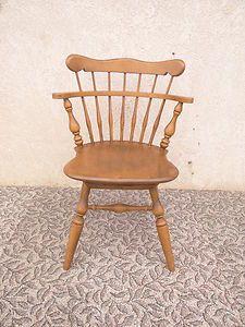 Ethan Allen Maple Swivel Desk Chair