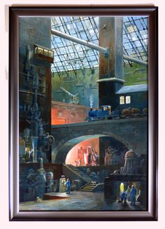 """""""The Factory 24th August"""" by Phil Lockwood Painting, Art, Art Background, Painting Art, Kunst, Paintings, Performing Arts, Painted Canvas, Drawings"""