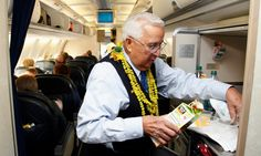 Ron Akana is widely believed to be the longest-serving flight attendant in the United States.