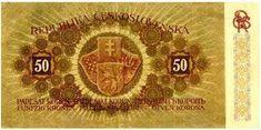 Státovky I. emise (1919) - Papírová platidla, bankovky Banknote, Coins, Money, Retro, Nostalgia, Coining, Rooms, Mid Century, Silver