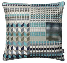 Como Large Square Cushion. Tribal Collection. Cotton and Polyester. Margo Selby. Textile Design