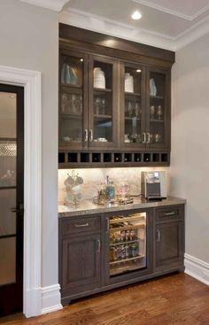 Liquor prep & cabinets