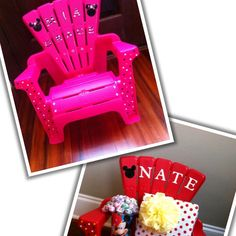 great gift ideas. chairs cost $5 at walmart!  Eli loved his so much we made some for his friends. :)