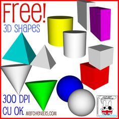 Free 3D shapes.