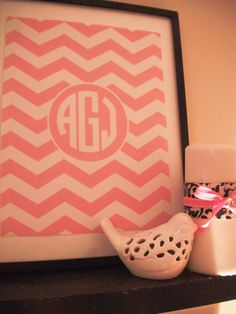 Chevron Monogram Printable: Free