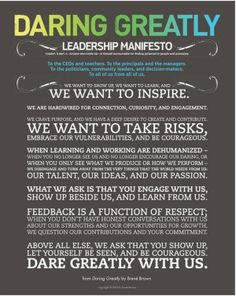"""""""9 Steps to Be a Thought Leader"""" (illustration: Brene Brown's The Wholehearted Parenting Manifesto)"""