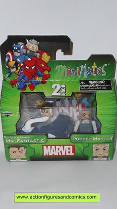 minimates MR FANTASTIC stretch punch PUPPET MASTER marvel universe action figures moc mip mib