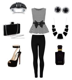 """Black-and-white"" by merijam5 on Polyvore featuring WearAll, Wolford, Prada, Karen Kane and Keiko Mecheri"