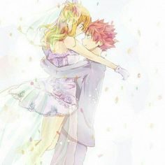 Fairy Tail, Lucy & Natsu, by erinan. The only time natsu would EVER take off his scarf. Fairy Tail Nalu, Fairy Tail Love, Fairy Tail Ships, Lucy Fairy, Fairy Tail Amour, Fairytail, Jellal, Gruvia, Fairy Tail Fotos