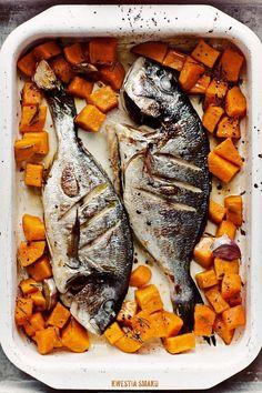 Dorada with yams *** Walleye Fish Recipes, Easy Fish Recipes, Seafood Recipes, Gefilte Fish Recipe, I Love Food, Good Food, Yummy Food, Delicious Recipes, Gourmet