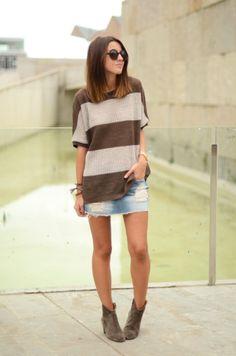 sweater: Celop Punto – Buylevard (new season)  booties: Isabel Marant Dicker boots  skirt: SUITEBLANCO (s/s 12)