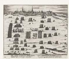 1581.Siege the city of Kamerik 1581.Kamerijk ontzet door de hertog van Anjou.Siege by Alessandro Farnese.Rijksmuseum Amsterdam.Frans Hogenberg. 1613-15.