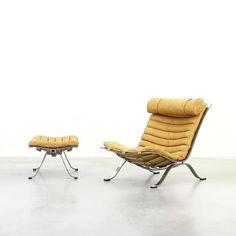 Lounge Chair Ari by Arne Norell by @galerie_bachmann on Instagram http://ift.tt/1PiOA4V