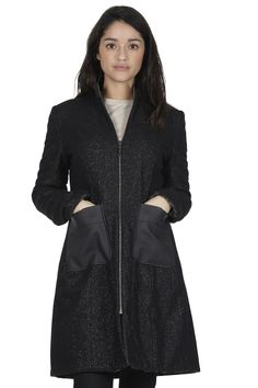 Reversible Wool and Leather Coat