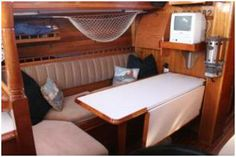 Saloon doubles up as sleeping berth