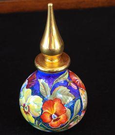 Moorcroft Enamels Pansies Perfume Bottle