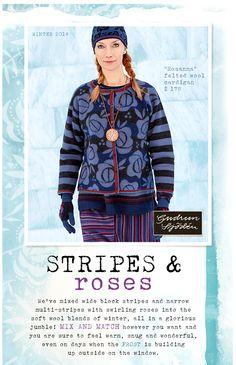 Gudrun Sjödén Winter 2014 - stripes & roses