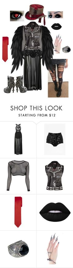 """""""MM formal event option 1"""" by deadlyangel ❤ liked on Polyvore featuring Three Floor, French Connection, Lime Crime, Stephen Dweck, The Rogue + The Wolf and Overland Sheepskin Co."""