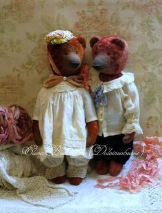 Artist bears vintage style By Elena Bestuzheva - Bear Pile
