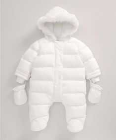 Girls Welcome to the World Quilted Pramsuit - NEW Arrivals - Mamas & Papas