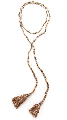 Chan Luu Beaded Tassel Necklace- love!