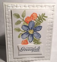 Painted Heartfelt Blooms - Stamping in Winchester, VA, with Buffy Cooper
