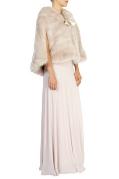 New In | Pinks CARRIE FAUX FUR TIE CAPE | Coast Stores Limited