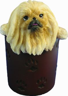 Pekingese Pencil Cup Holder with Realistic Hand Painted Pekingese Face and Paws Hanging Over Cup, Uniquely Designed Pekingese Gifts, A Convenient Organizer for Home or Office, One Of A Kind Pen Holder ** Continue to the product at the image link. Pencil Cup Holder, Pet Gear, Cat Memorial, Pekingese, Plastic Laundry Basket, Pen Holders, Pet Supplies, Hand Painted, Pets