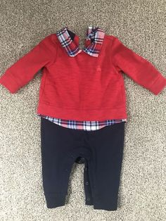 aa7cdcdbc Baby Gap Infant Boys One Piece Sweater Outfit Size: 3-6 Month #fashion