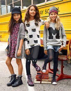 Premier jour d& de la mode Tween Girls Preteen Fashion, Fashion Kids, Blue Fashion, Petite Fashion, Curvy Fashion, Autumn Fashion, Womens Fashion, Little Girl Outfits, Little Girl Fashion