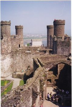 The medieval Raglan Castle in Monmouthshire, Wales, UK