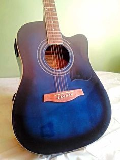 Blue guitar Blue Guitar, Music Instruments, My Style, Musical Instruments