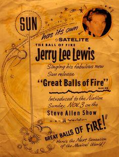 Jerry Lee Lewis - Handbill 1957