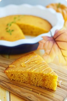Pumpkin Honey Cornbread  http://www.thecomfortofcooking.com/2012/10/pumpkin-honey-cornbread.html