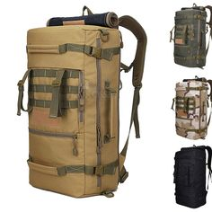 2016 New Large Military Tactical Backpack 50L Hiking Camping Daypack Shoulder Bag Big Men's hiking Rucksack ... http://rucksackbackpack.net