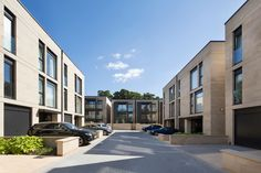 Woodcroft Residential Development, Pitsligo Road, Edinburgh - Apartment Blocks & Townhouses with High Quality Finishes & Landscaping Residential Architecture, Architecture Design, New Urbanism, Modern Townhouse, Stone Facade, Apartment Design, Condominium, Floor Plans, Exterior