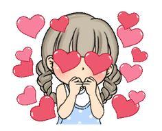 Cartoon Girl Images, Emoji Images, Cartoon Pics, Cute Cartoon Animals, Cute Love Images, Cute Love Gif, Iphone Wallpaper Quotes Love, Cartoon Wallpaper, Coeur Gif