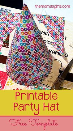 Printable Party Hat Template - www.themamasgirls.com