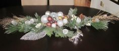 Christmas Wreaths, Christmas Decorations, Table Decorations, Holiday Decor, Furniture, Design, Home Decor, Christmas Garlands, Homemade Home Decor