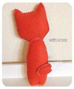 Nursery Decor Plush Fox Toy Fox Pillow Nursery by PaigeAndPoppy