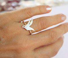 Flying Bird Custom Ring