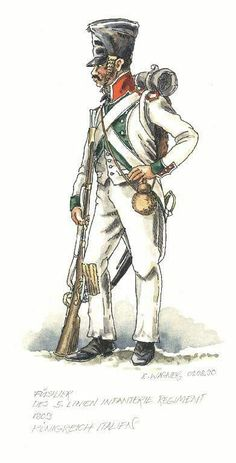 Italy; 5th Line Infantry, Voltigeur, 1809