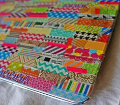 Awesome washi tape laptop decor by Christina Colon                                                                                                                                                                                 More