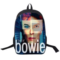David Bowie Backpack Women Men Rock Band The Beatles / Queen Backpacks For Teenagers Boys Girls Daily Bag Children School Bags